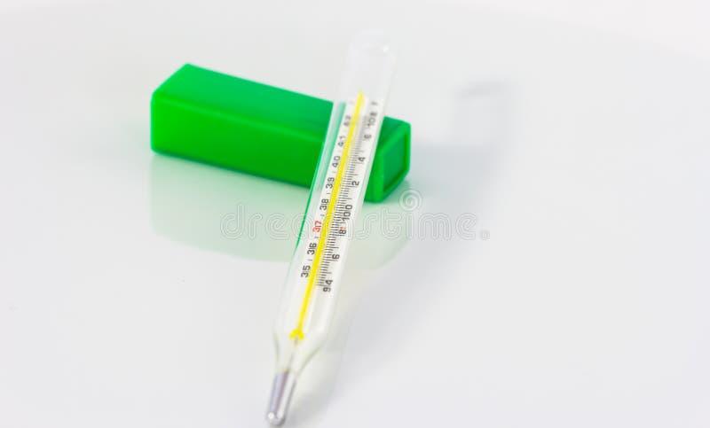 Download Stam van een thermometer stock afbeelding. Afbeelding bestaande uit detail - 54075109
