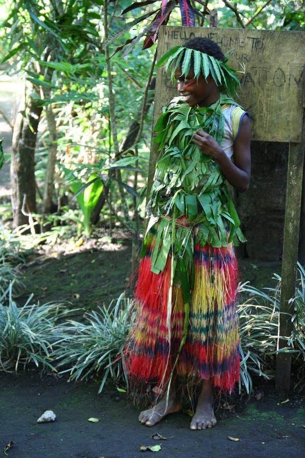 stam- vanuatu för flicka by royaltyfria foton