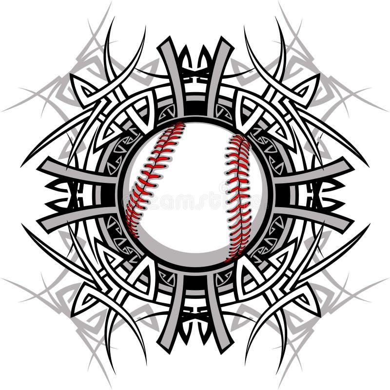 stam- vektor för baseballbildsoftball vektor illustrationer