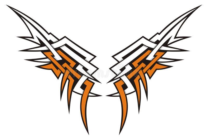 stam- vingar stock illustrationer