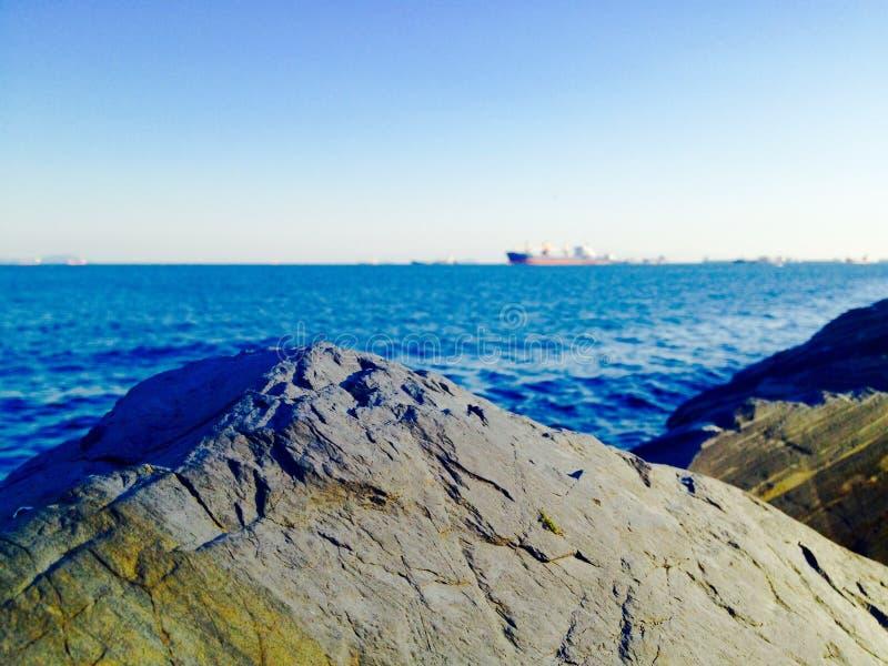 Stambul de pedra do navio do céu do mar imagens de stock