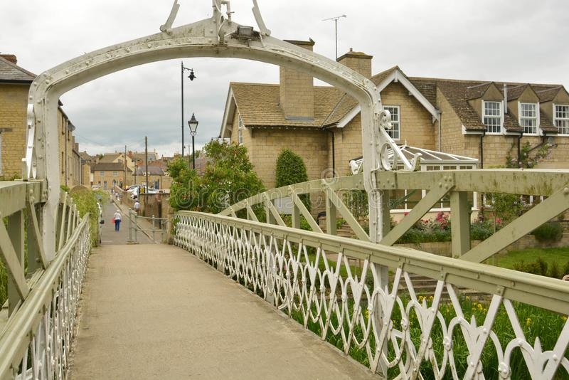 Stamford, England, May 31, 2019 - Bridge over river Welland in Stamford, Lincolnshire, UK. Stamford, England, May 31, 2019 - Bridge over river Welland in royalty free stock images