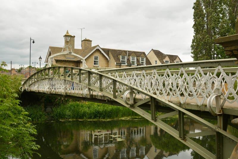 Stamford, England, May 31, 2019 - Bridge over river Welland in Stamford, Lincolnshire, UK. Stamford, England, May 31, 2019 - Bridge over river Welland in stock photography