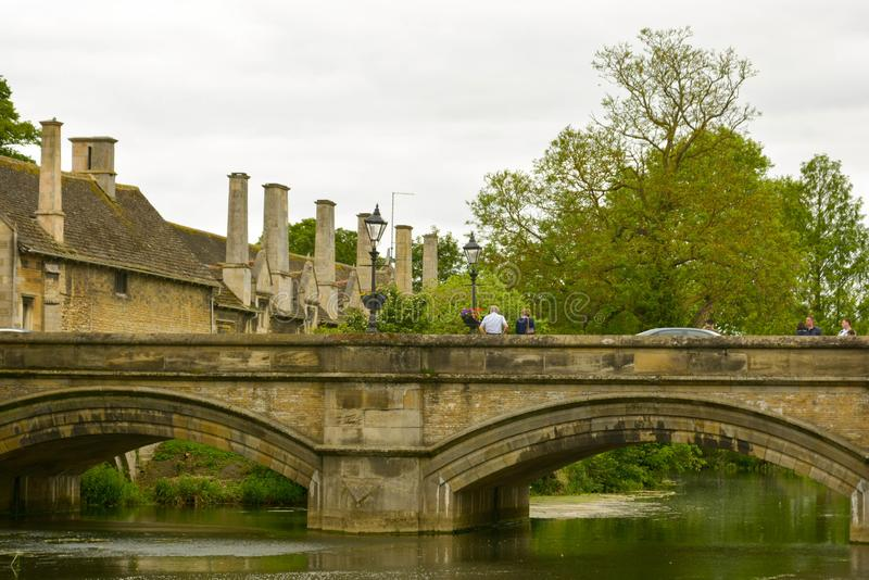 Stamford, England, May 31, 2019 - River Welland in Stamford, Lincolnshire, UK. Stamford, England, May 31, 2019 - River Welland in Stamford Lincolnshire UK stock images