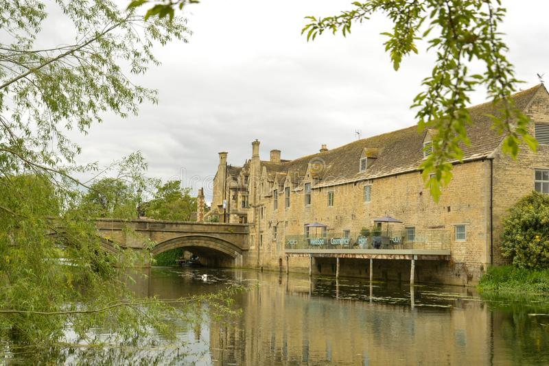 Stamford, England, May 31, 2019 - River Welland in Stamford, Lincolnshire, UK. Stamford, England, May 31, 2019 - River Welland in Stamford Lincolnshire UK, water stock photo