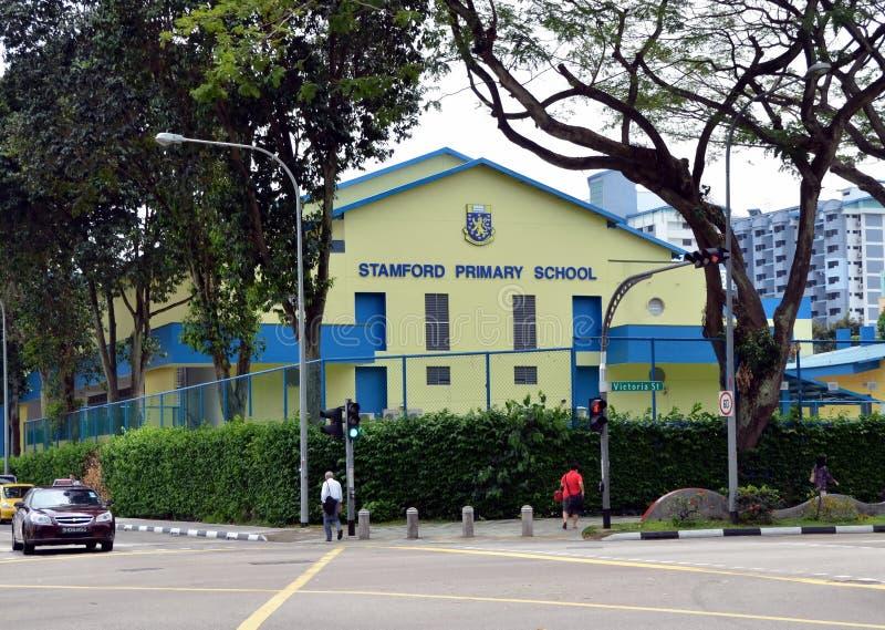 Stamford grundskola för barn mellan 5 och 11 år royaltyfri foto