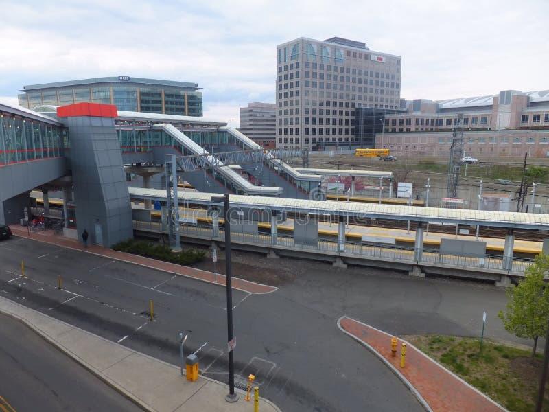 Stamford Metro-North Railroad station royalty free stock photos