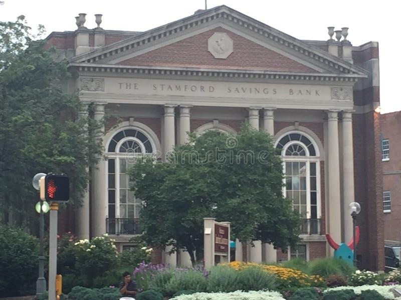 Stamford sparbank i Connecticut royaltyfria bilder