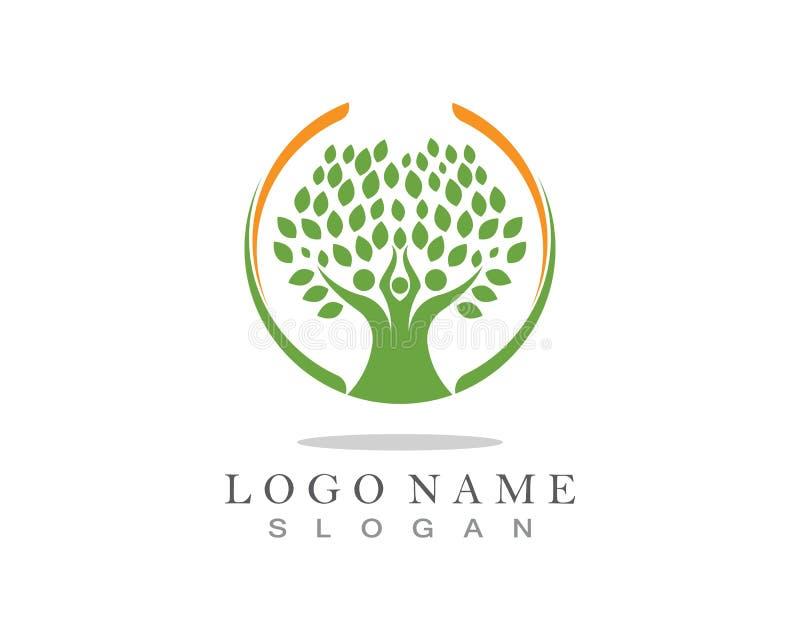 Stammbaum-Logoschablone lizenzfreie stockfotos