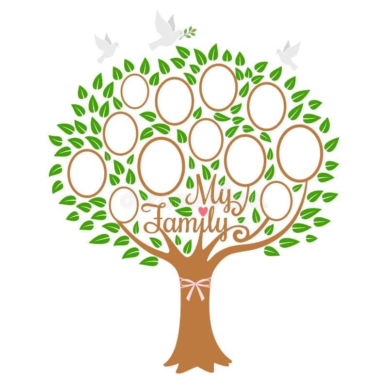 Stammbaumgeneration, Abstammungsbaum mit Fotoplatz lizenzfreie abbildung