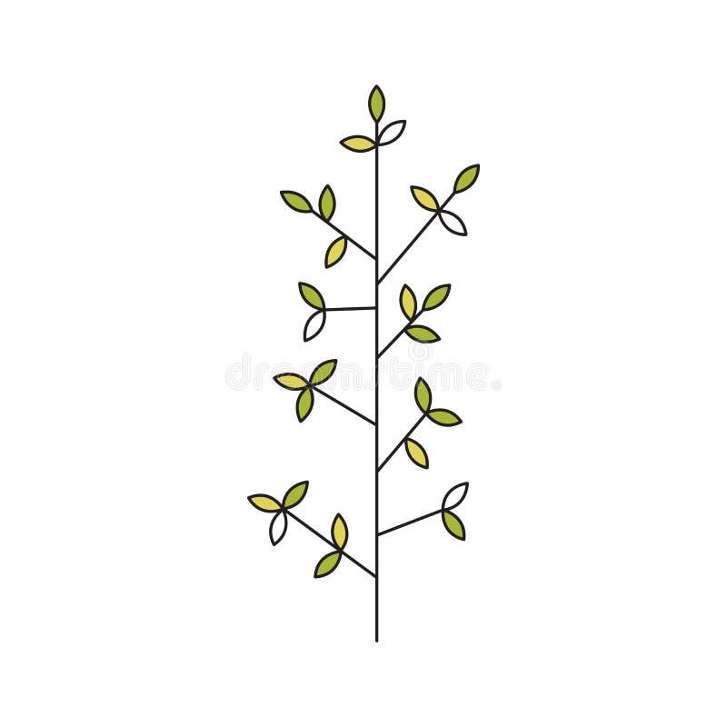 Stammblumenlinie Ikone vektor abbildung