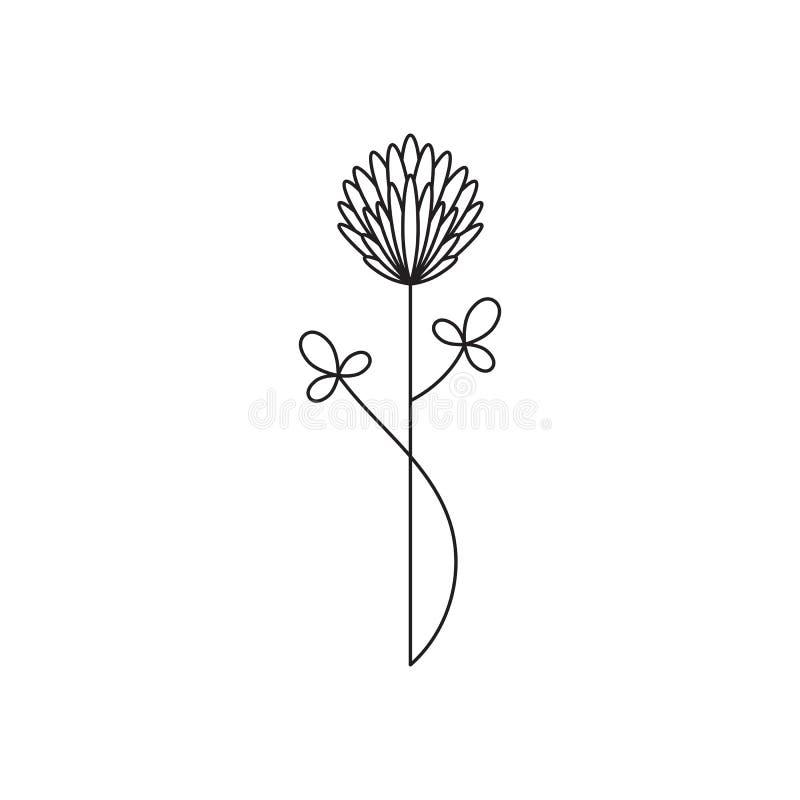 Stammblumenlinie Ikone stock abbildung