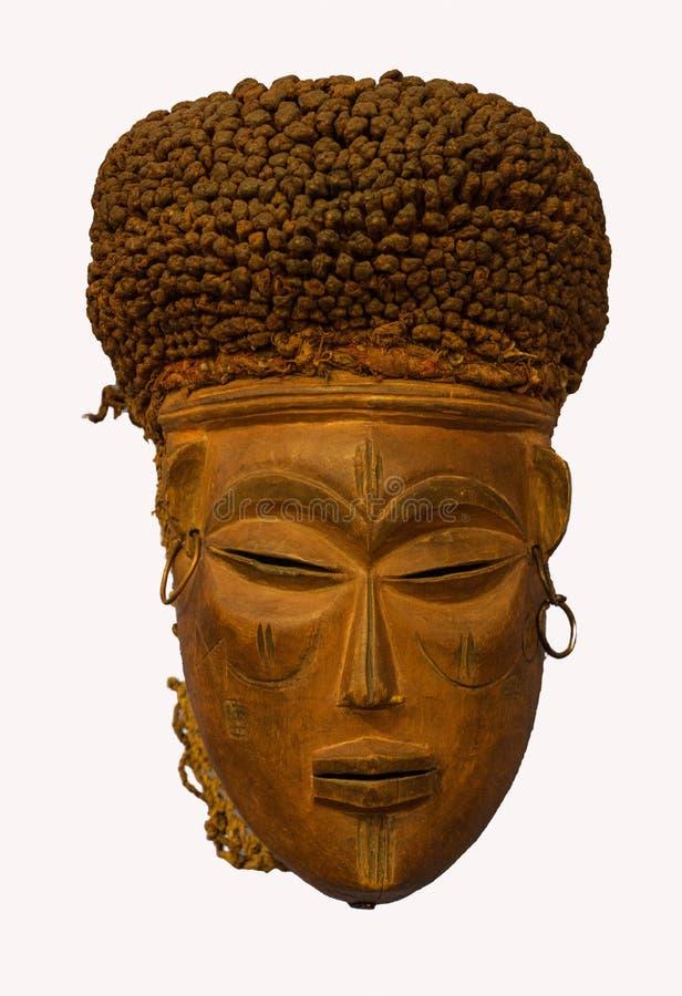 Stammen Afrikaans masker stock afbeeldingen