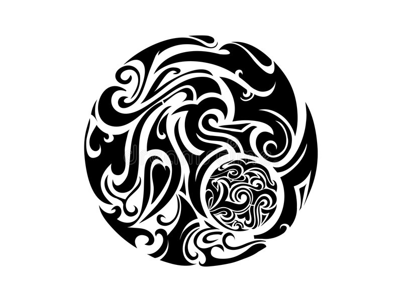 Stammen art. royalty-vrije illustratie