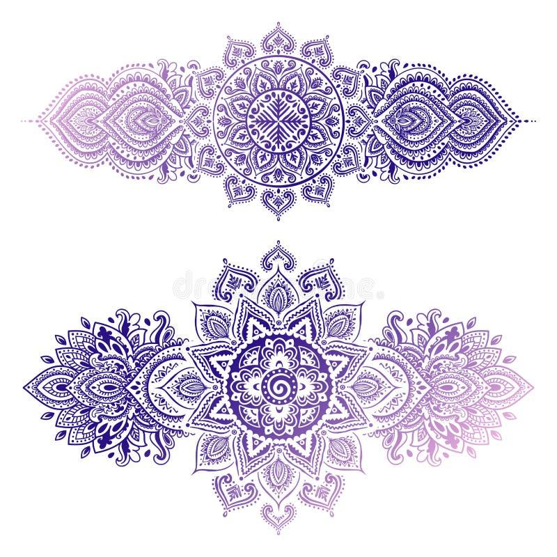 Stammen Azteeks uitstekend naadloos patroon vector illustratie