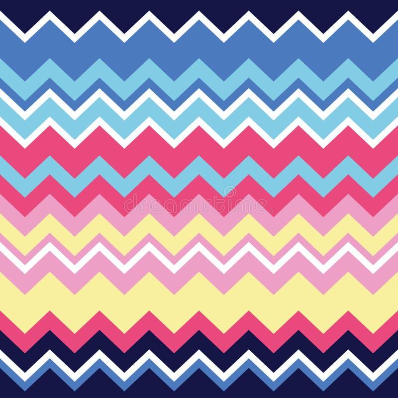Stammen Azteeks zigzag naadloos patroon, druk royalty-vrije illustratie