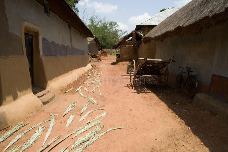 Stammen dorp royalty-vrije stock foto