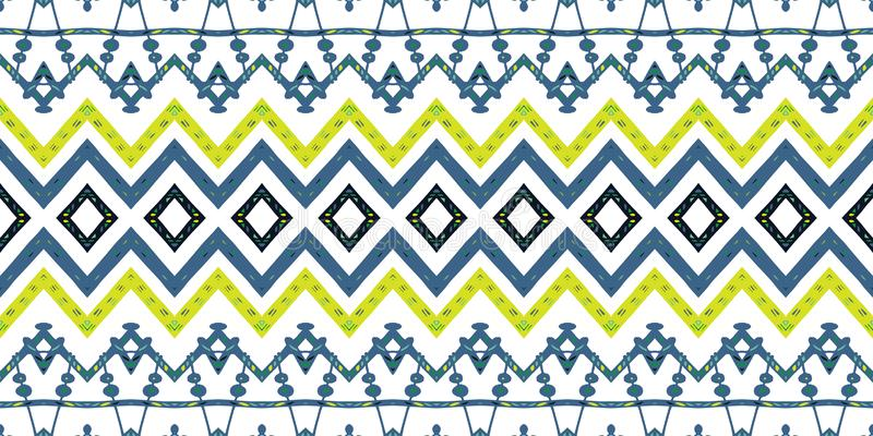 Stammen etnisch Ikat-folklorepatroon Afrikaans abstract ornament vector illustratie