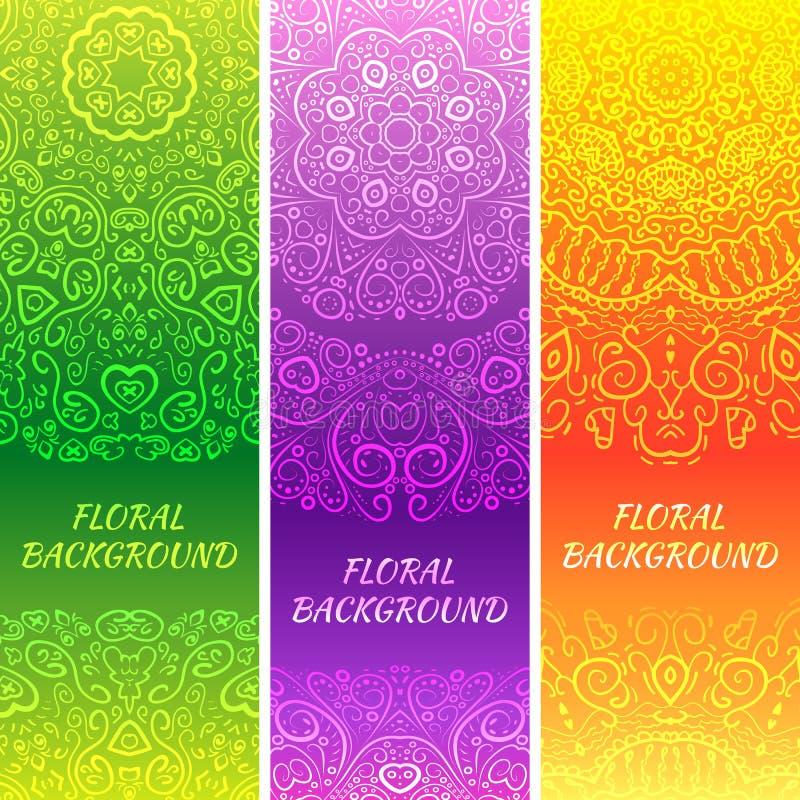 Stammen etnische uitstekende banners stock illustratie