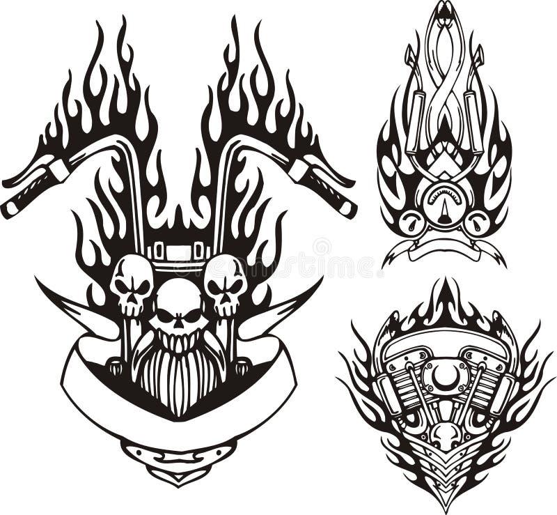 Stammen fietsen. vector illustratie