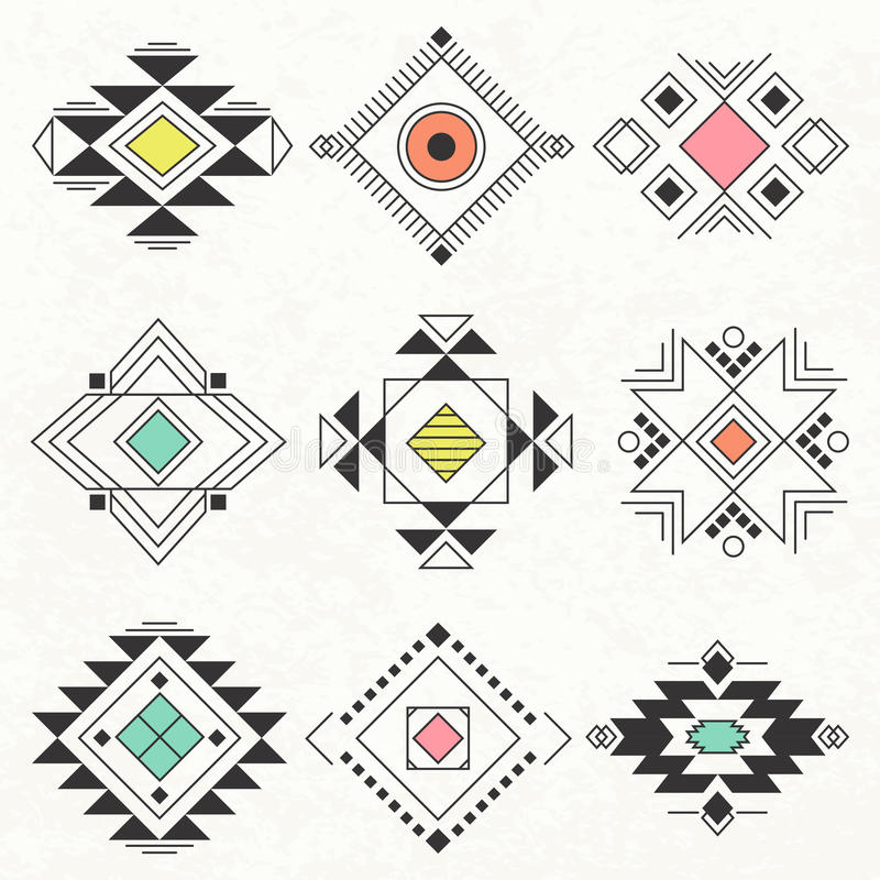 Stammen geometrische elementeninzameling stock illustratie