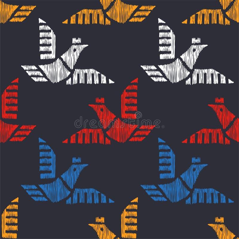 Stammen Indisch Amerikaans naadloos patroon Vector getrokken hand nativ vector illustratie