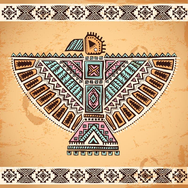 Stammen inheemse Amerikaanse adelaarssymbolen royalty-vrije illustratie