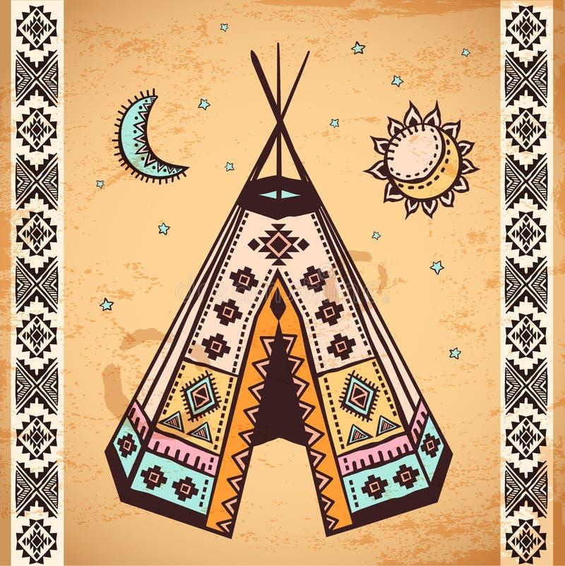 Stammen inheemse Amerikaanse reeks symbolen royalty-vrije illustratie