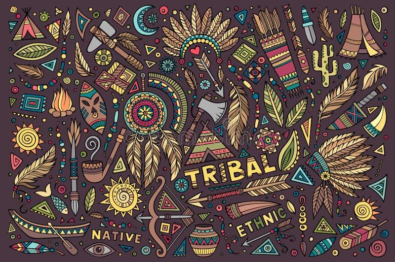 Stammen inheemse reeks symbolen royalty-vrije illustratie