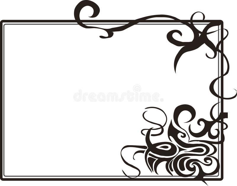 Stammen kunstframe vector illustratie