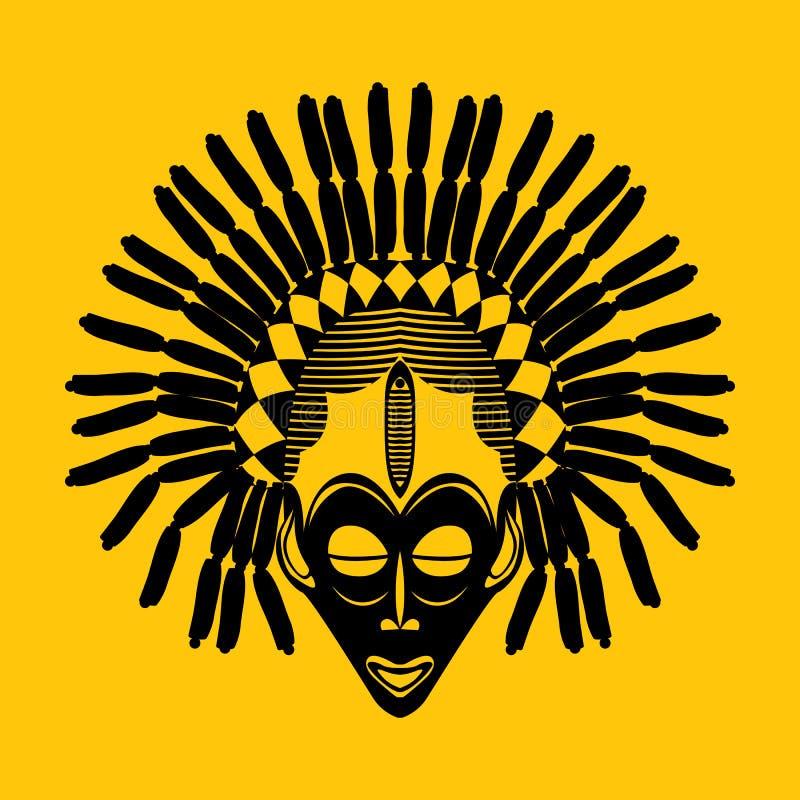 Stammen masker vector illustratie