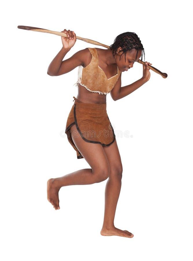 Stammen meisje stock afbeelding