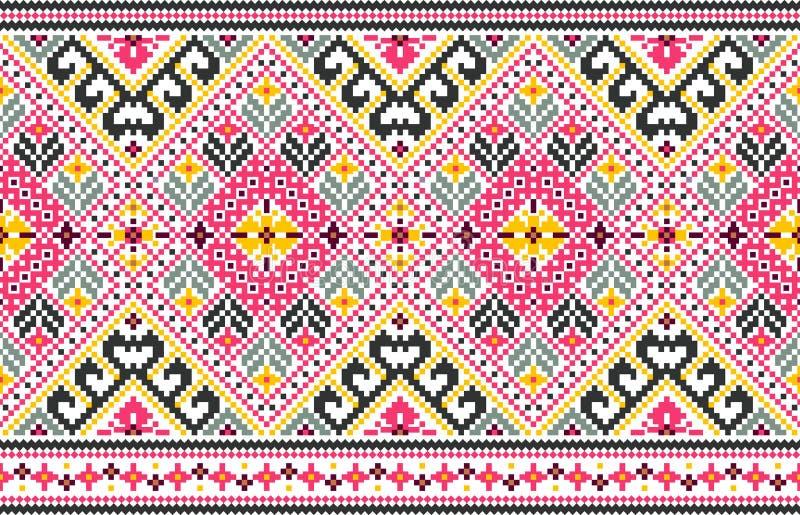 Stammen naadloos patroon, etnische stijl vectorillustratie royalty-vrije illustratie