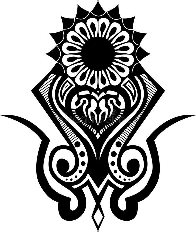Stammen tatoegering royalty-vrije illustratie