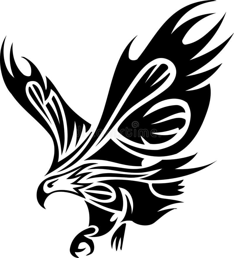 Stammen tatoegering van adelaar stock illustratie