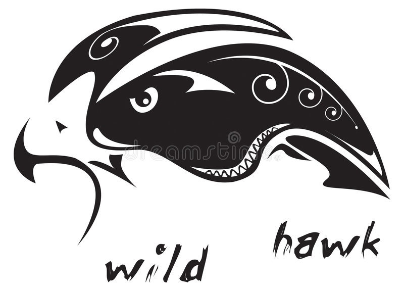 Stammen Tatoegerings Wilde Havik Stock Fotografie
