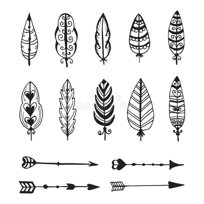 Stammen vectorelementeninzameling stock illustratie