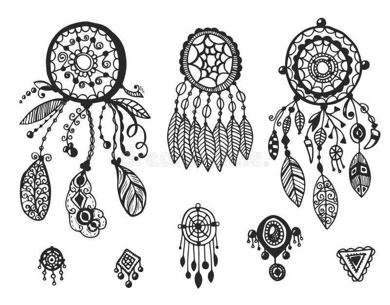Stammen vectorelementeninzameling vector illustratie