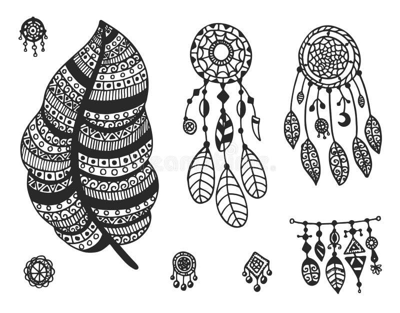 Stammen vectorelementeninzameling royalty-vrije illustratie