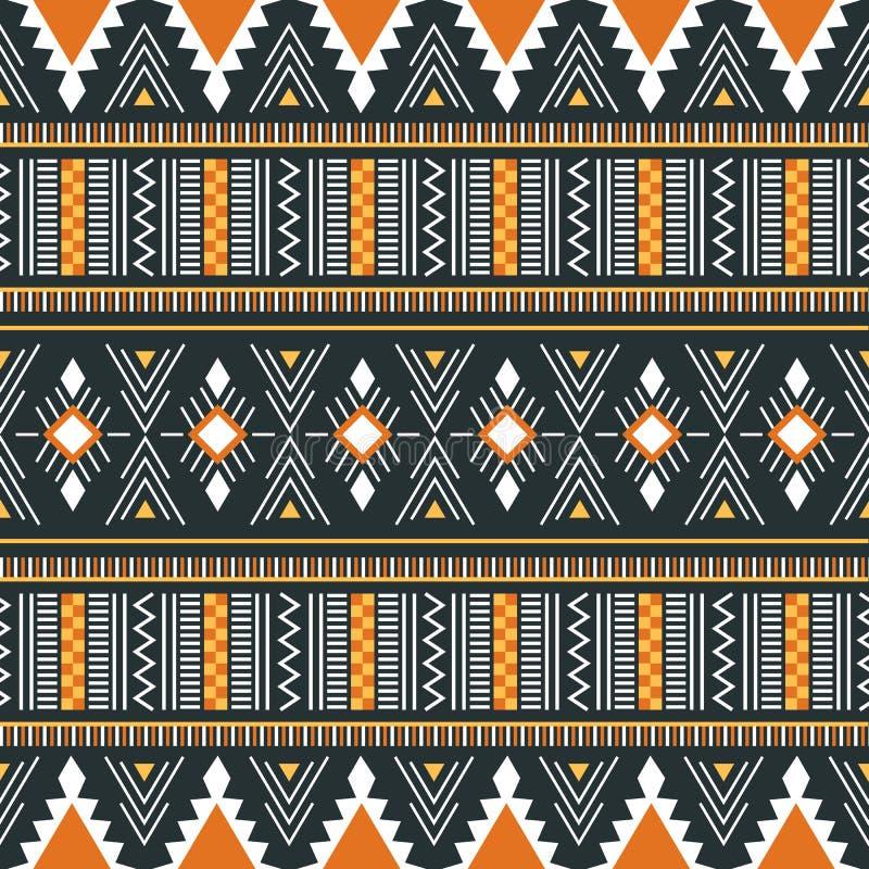Stammen vectorornament Naadloos Afrikaans Patroon Vector illustr vector illustratie