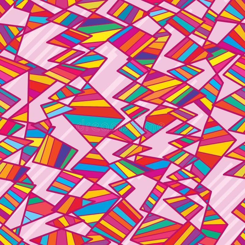 Stammen verticaal kleurrijk diagonaal naadloos patroon royalty-vrije illustratie
