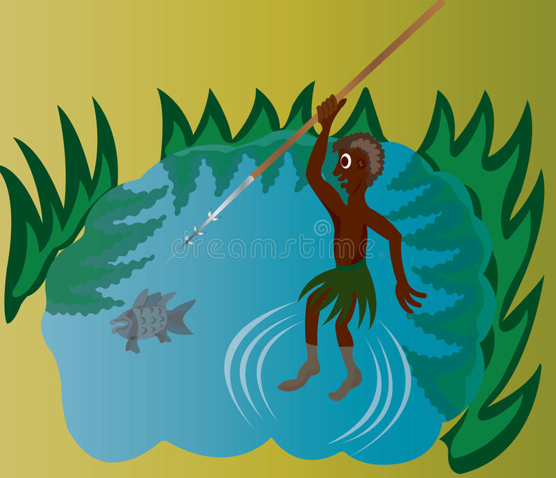 Stammen Visserij stock illustratie