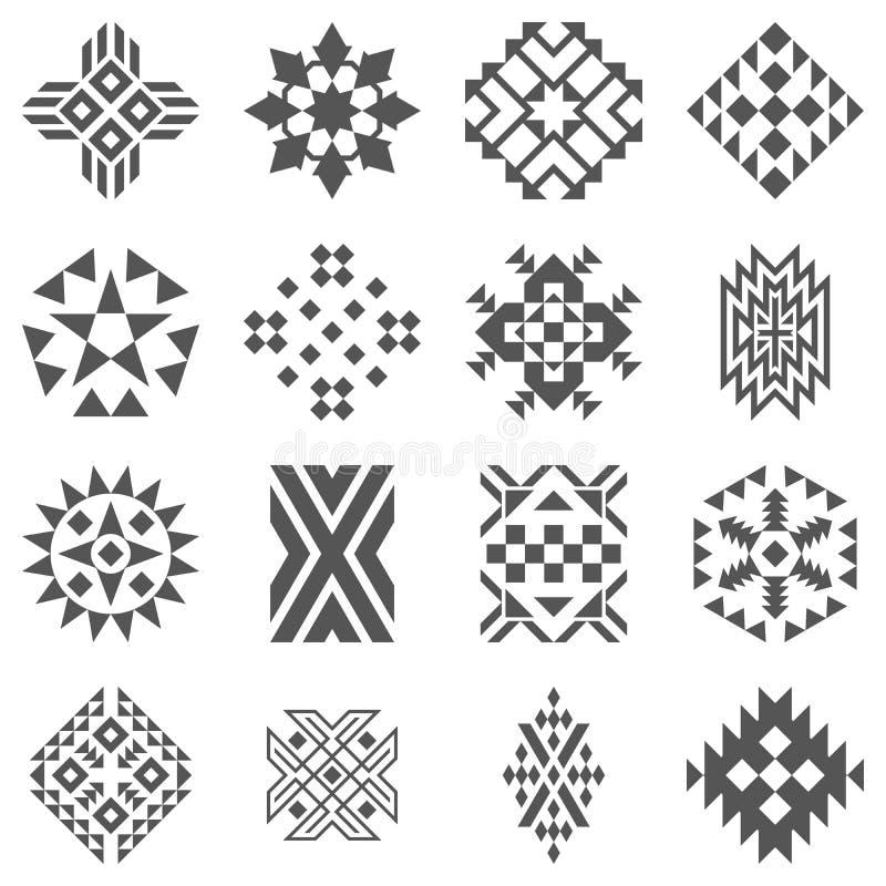 Stammenelementen van patroon royalty-vrije illustratie