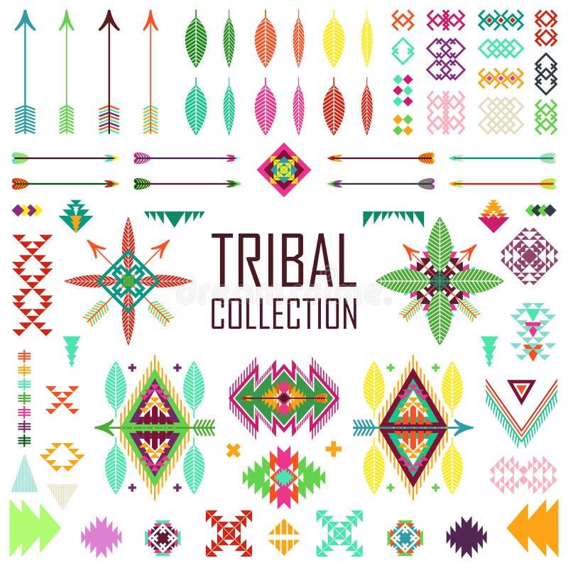 Stammenelementeninzameling stock illustratie