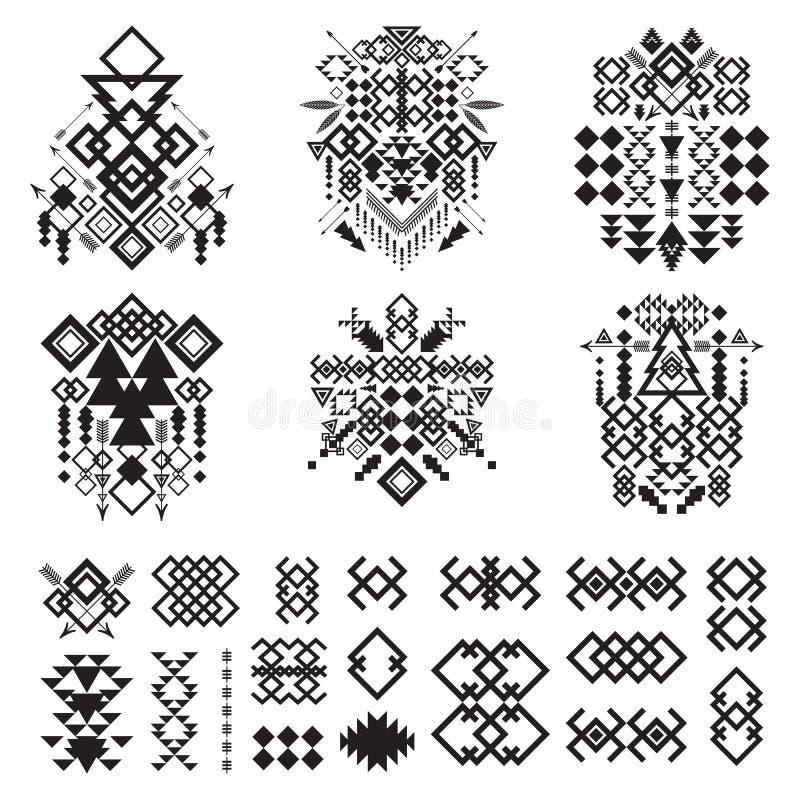 Stammenelementeninzameling vector illustratie