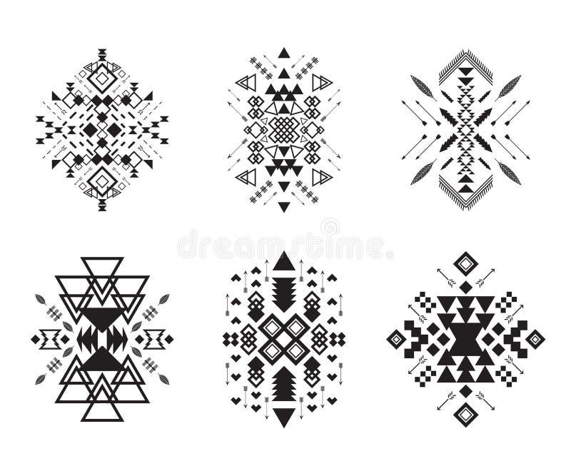 Stammenelementeninzameling royalty-vrije illustratie