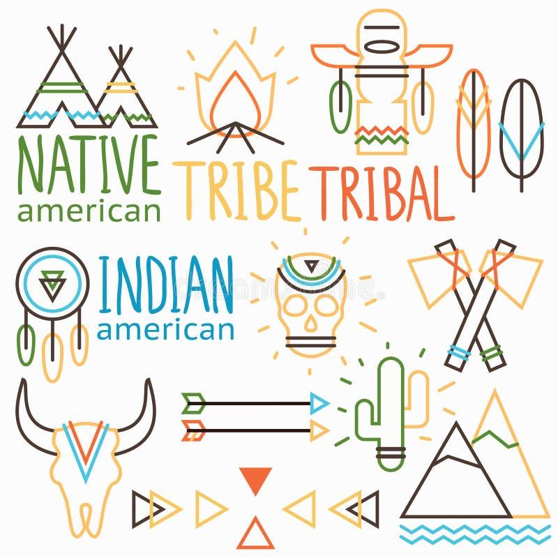 Stammenetiketten royalty-vrije illustratie