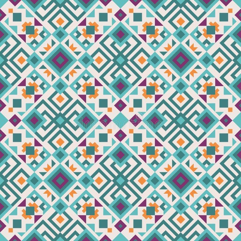 Stammenfusie geometrisch patroon royalty-vrije illustratie