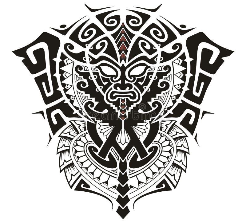 Stammengod met Alpha- en Omega symbool vectorillustratie stock illustratie
