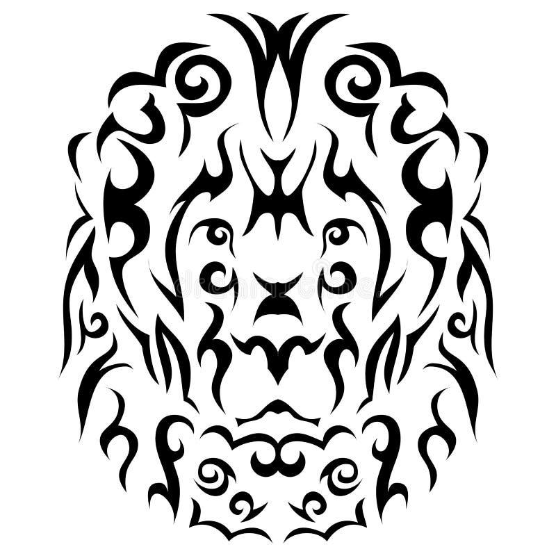 Stammenleeuwillustratie royalty-vrije illustratie